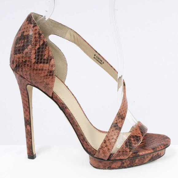 cb5ea811632 B Brian Atwood CONSORT Pink Snakeskin Leather Heel